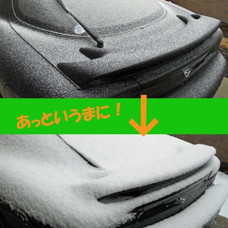 雪がしんしんと降っています