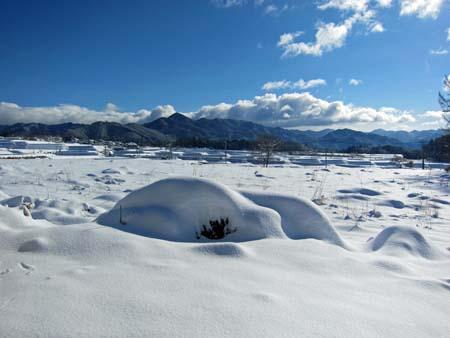 北杜市の雪景色