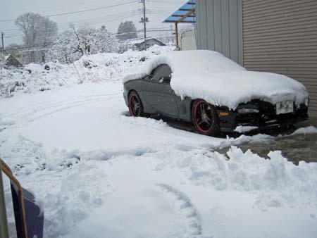 北杜市の雪